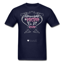"Load image into Gallery viewer, TC ""Homeschool Mom On The Run"" Unisex Standard T-Shirt Dark - navy"