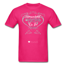 "Load image into Gallery viewer, TC ""Homeschool Mom On The Run"" Unisex Standard T-Shirt Dark - fuchsia"