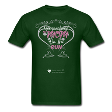 "Load image into Gallery viewer, TC ""Homeschool Mom On The Run"" Unisex Standard T-Shirt Dark - forest green"