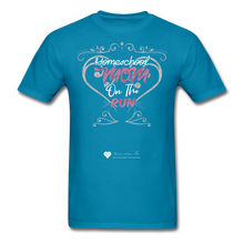 "Load image into Gallery viewer, TC ""Homeschool Mom On The Run"" Unisex Standard T-Shirt Dark - turquoise"