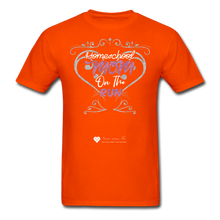 "Load image into Gallery viewer, TC ""Homeschool Mom On The Run"" Unisex Standard T-Shirt Dark - orange"