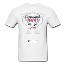 "Load image into Gallery viewer, TC ""Homeschool Mom On The Run"" Unisex Standard T-Shirt Light - white"