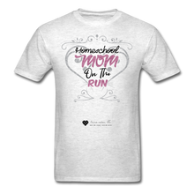 "Load image into Gallery viewer, TC ""Homeschool Mom On The Run"" Unisex Standard T-Shirt Light - light heather gray"