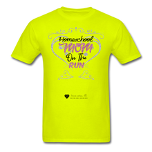 "Load image into Gallery viewer, TC ""Homeschool Mom On The Run"" Unisex Standard T-Shirt Light - safety green"