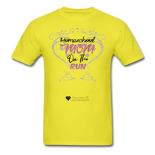 "Load image into Gallery viewer, TC ""Homeschool Mom On The Run"" Unisex Standard T-Shirt Light - yellow"