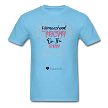 "Load image into Gallery viewer, TC ""Homeschool Mom On The Run"" Unisex Standard T-Shirt Light - aquatic blue"