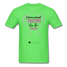"Load image into Gallery viewer, TC ""Homeschool Mom On The Run"" Unisex Standard T-Shirt Light - kiwi"