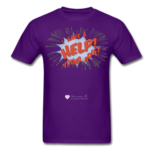 "TC ""Help! I Have A Young Adult"" Unisex Classic T-Shirt - purple"