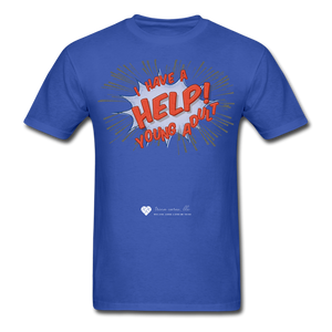 "TC ""Help! I Have A Young Adult"" Unisex Classic T-Shirt - royal blue"