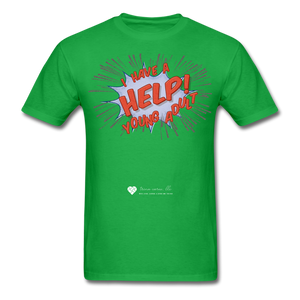 "TC ""Help! I Have A Young Adult"" Unisex Classic T-Shirt - bright green"