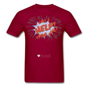 "TC ""Help! I Have A Young Adult"" Unisex Classic T-Shirt - dark red"