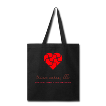 Load image into Gallery viewer, Trina Cares Tote Bag - black