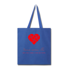 Load image into Gallery viewer, Trina Cares Tote Bag - royal blue