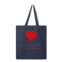 Load image into Gallery viewer, Trina Cares Tote Bag - navy