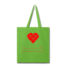 Load image into Gallery viewer, Trina Cares Tote Bag - lime green