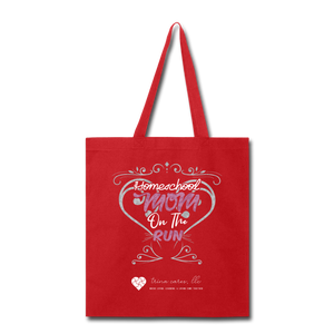 "TC ""Homeschool Mom on the Run"" Tote Bag - red"