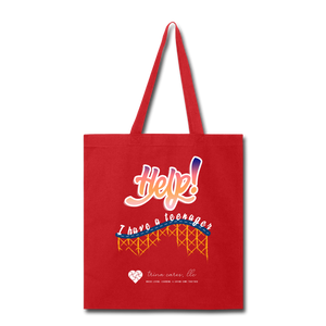 "TC ""Help! I Have A Teenager"" Tote Bag - red"