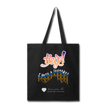 "Load image into Gallery viewer, TC ""Help! I Have A Teenager"" Tote Bag - black"