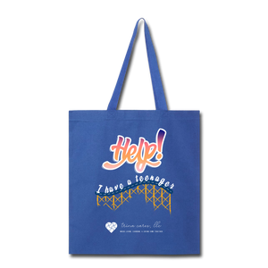 "TC ""Help! I Have A Teenager"" Tote Bag - royal blue"