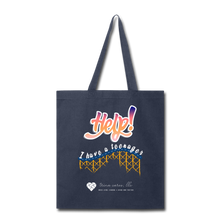 "Load image into Gallery viewer, TC ""Help! I Have A Teenager"" Tote Bag - navy"