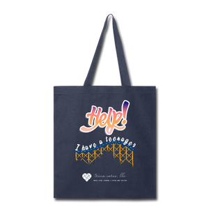 "TC ""Help! I Have A Teenager"" Tote Bag - navy"