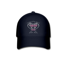 "Load image into Gallery viewer, TC ""Homeschool Mom on the Run"" Baseball Cap - navy"