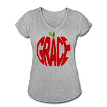 Load image into Gallery viewer, AoG Grace Women's Tri-Blend V-Neck T-Shirt - heather gray