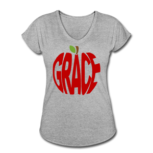 AoG Grace Women's Tri-Blend V-Neck T-Shirt - heather gray