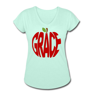 AoG Grace Women's Tri-Blend V-Neck T-Shirt - mint