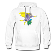 Load image into Gallery viewer, Captain Yolk Men's Premium Hoodie - white
