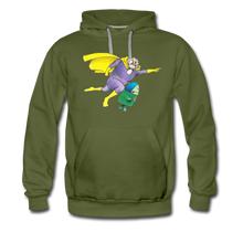 Load image into Gallery viewer, Captain Yolk Men's Premium Hoodie - olive green