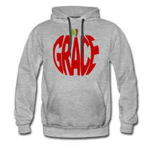 Load image into Gallery viewer, AoG Grace Men's Premium Hoodie - heather gray