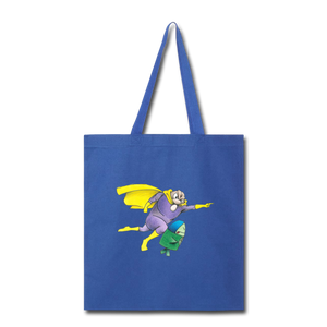 Captain Yolk Tote Bag - royal blue
