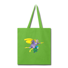 Load image into Gallery viewer, Captain Yolk Tote Bag - lime green