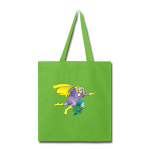Captain Yolk Tote Bag - lime green
