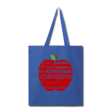 Load image into Gallery viewer, AoG Compassion Tote Bag - royal blue