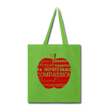 Load image into Gallery viewer, AoG Compassion Tote Bag - lime green