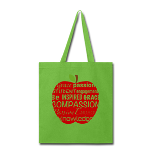 AoG Compassion Tote Bag - lime green
