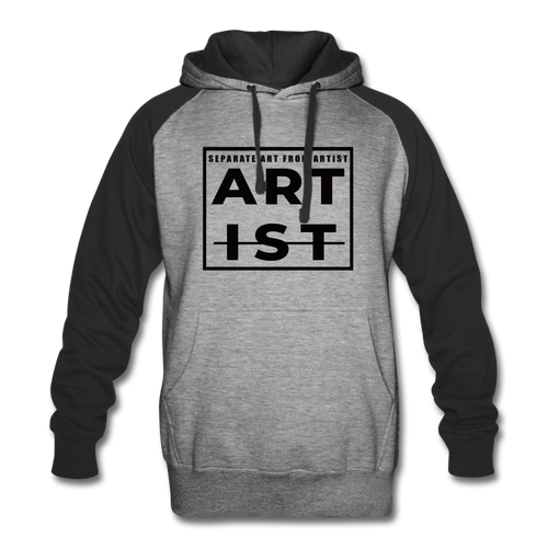 Art From Artist Colorblock Hoodie - heather gray/black