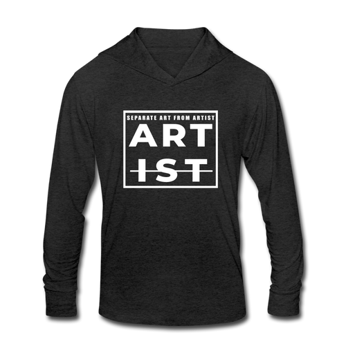 Art From Artist Tri-Blend Hoodie Shirt - heather black