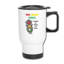 Load image into Gallery viewer, Red Yellow Green Travel Mug - white