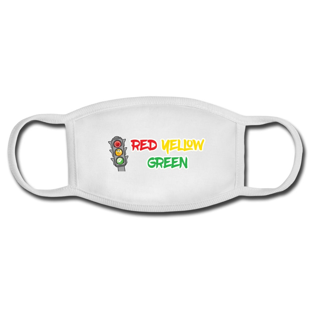 Red Yellow Green Face Mask - white/white
