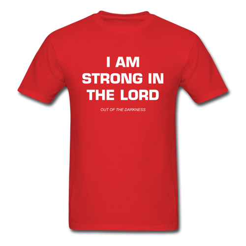 I Am Strong In the Lord Unisex Standard T-Shirt - red