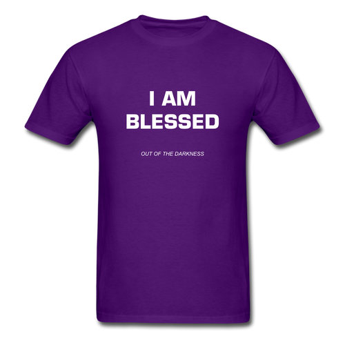 I Am Blessed Unisex Standard T-Shirt - purple