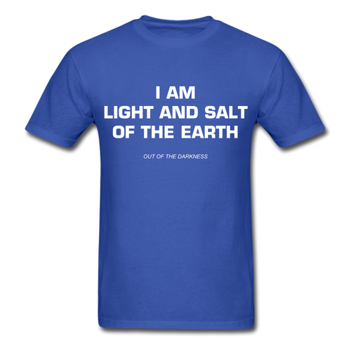 Light and Salt of the Earth Unisex Standard T-Shirt - royal blue