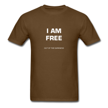 Load image into Gallery viewer, I Am Free Unisex Standard T-Shirt - brown
