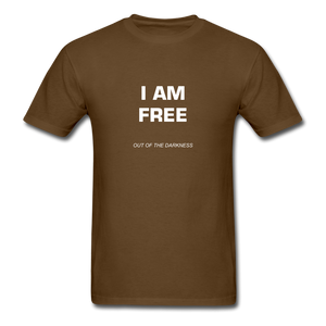 I Am Free Unisex Standard T-Shirt - brown