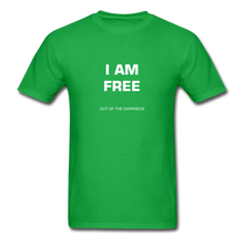 Load image into Gallery viewer, I Am Free Unisex Standard T-Shirt - bright green