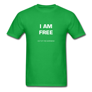 I Am Free Unisex Standard T-Shirt - bright green