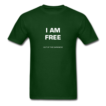 Load image into Gallery viewer, I Am Free Unisex Standard T-Shirt - forest green